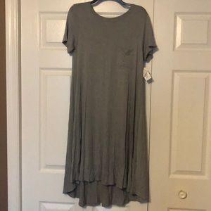 NWT Lularoe Carly Dress w/ Pocket Small Gray